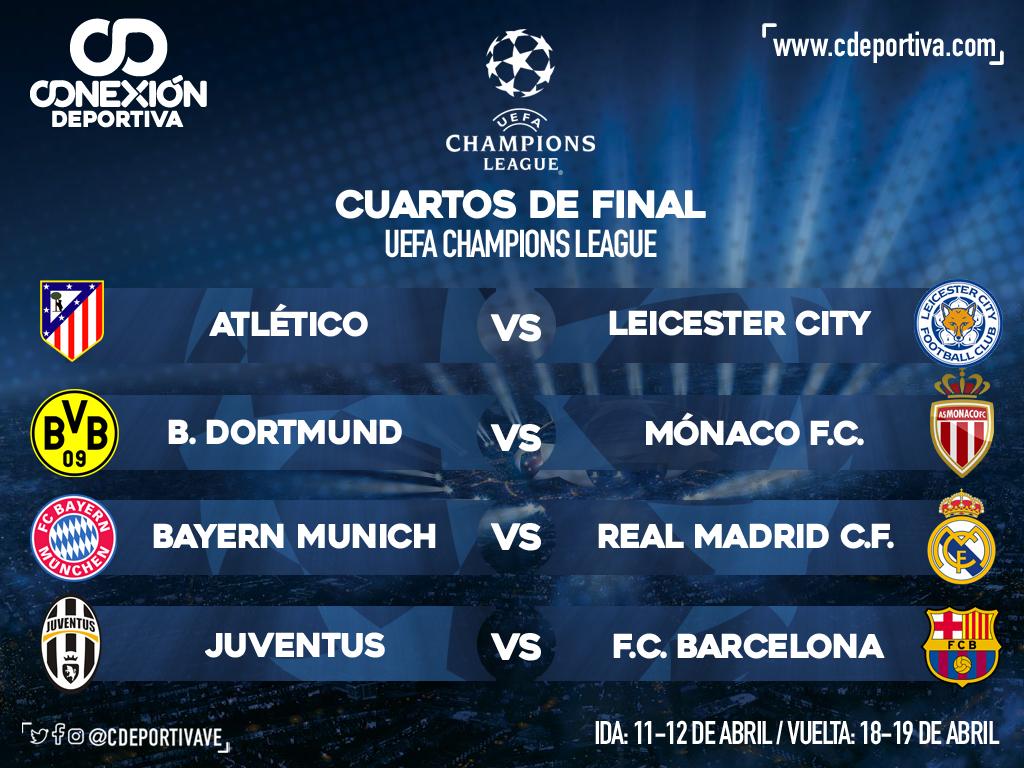 Definidos emparejamientos de Cuartos de Final de la Champions League ...