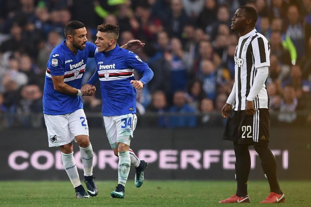 El Colombiano Duvan Zapata Y El Uruguayo Lucas Torreira Marcaron Este Domingo En El Triunfo   Del Sampdoria Contra El Juventus En La Decimotercera Jornada