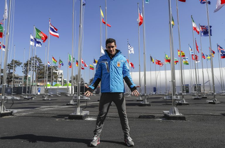 Gangneung (Korea, Republic Of), 12/02/2018.- Spanish figure skater Javier Fernandez Lopez poses during a photocall at the Olympic Village during the PyeongChang 2018 Olympic Games, South Korea, 12 February 2018. (Corea del Sur) EFE/EPA/VALDRIN XHEMAJ