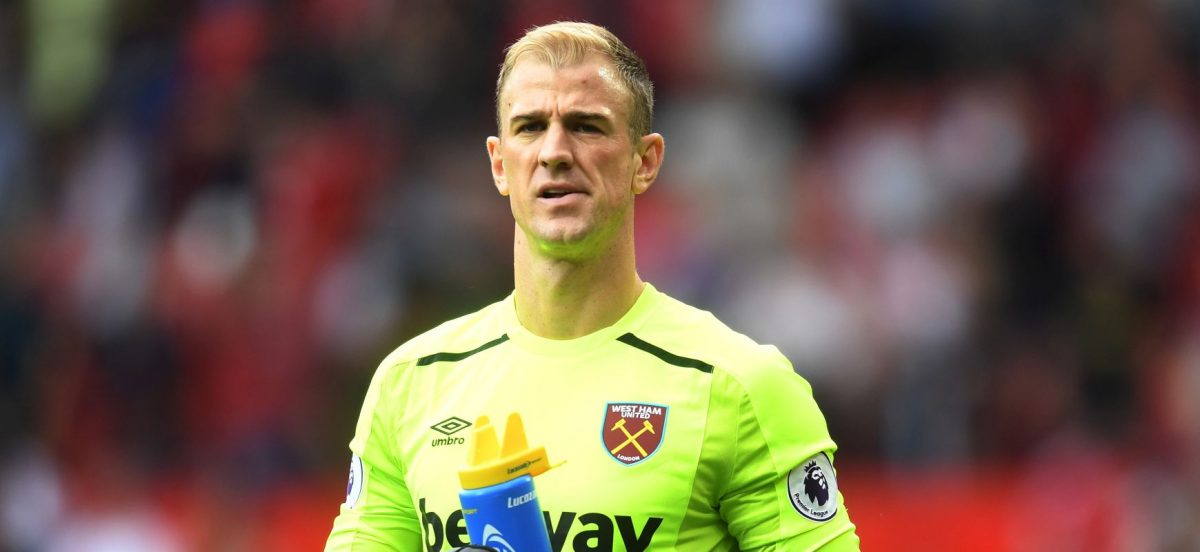 MANCHESTER, ENGLAND - AUGUST 13: Joe Hart of West Ham United is dejected after the Premier League match between Manchester United and West Ham United at Old Trafford on August 13, 2017 in Manchester, England.  (Photo by Michael Regan/Getty Images)