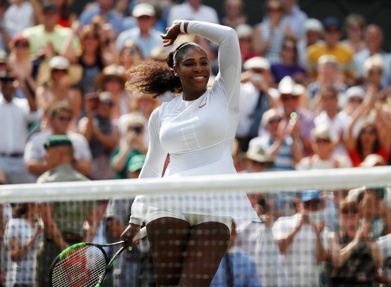EPA696. WIMBLEDON (REINO UNIDO), 12/07/2018.- La tenista estadounidense Serena Williams celebra la victoria conseguida ante la alemana Julia Görges, en la semifinal del torneo de Wimbledon, en Londres, Reino Unido, el 12 de julio del 2018. EFE/NIC BOTHMA - SÓLO USO EDITORIAL - PROHBIDO SU USO COMERCIAL