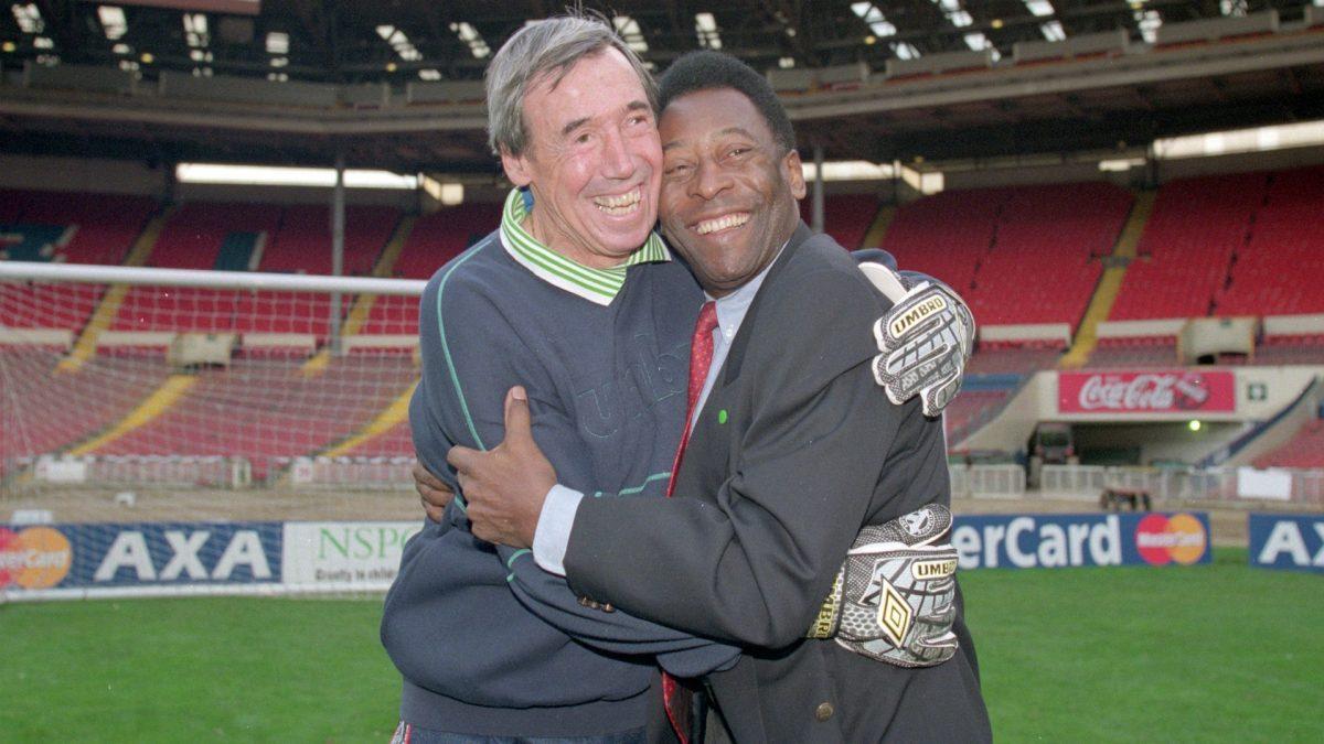 Pelé y Gordon Banks