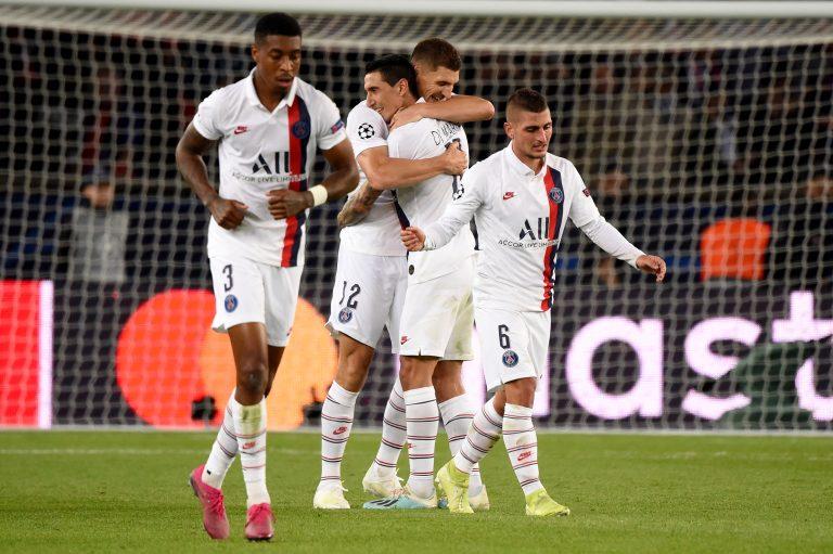 PSG celebrando ante Real Madrid