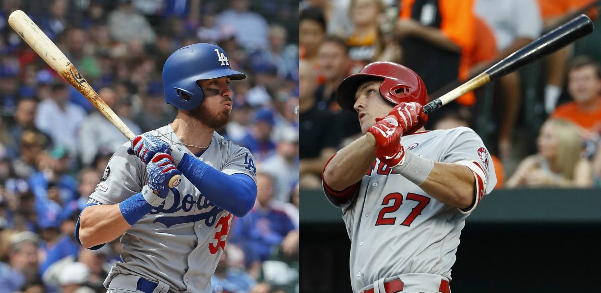 Cody Bellinger y Mike Trout
