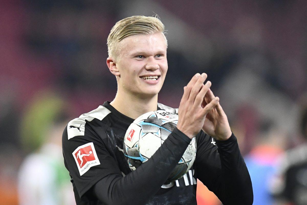 Haaland marcó Hat Trick en su debut con el Dortmund