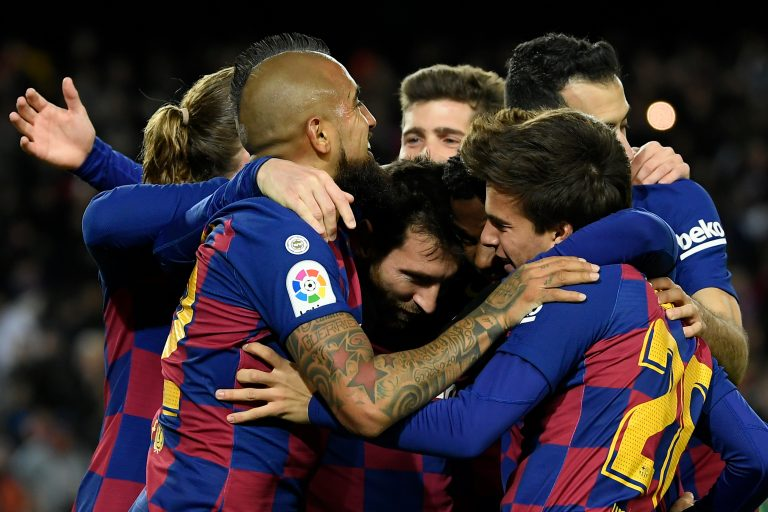 Messi salvó al Barcelona