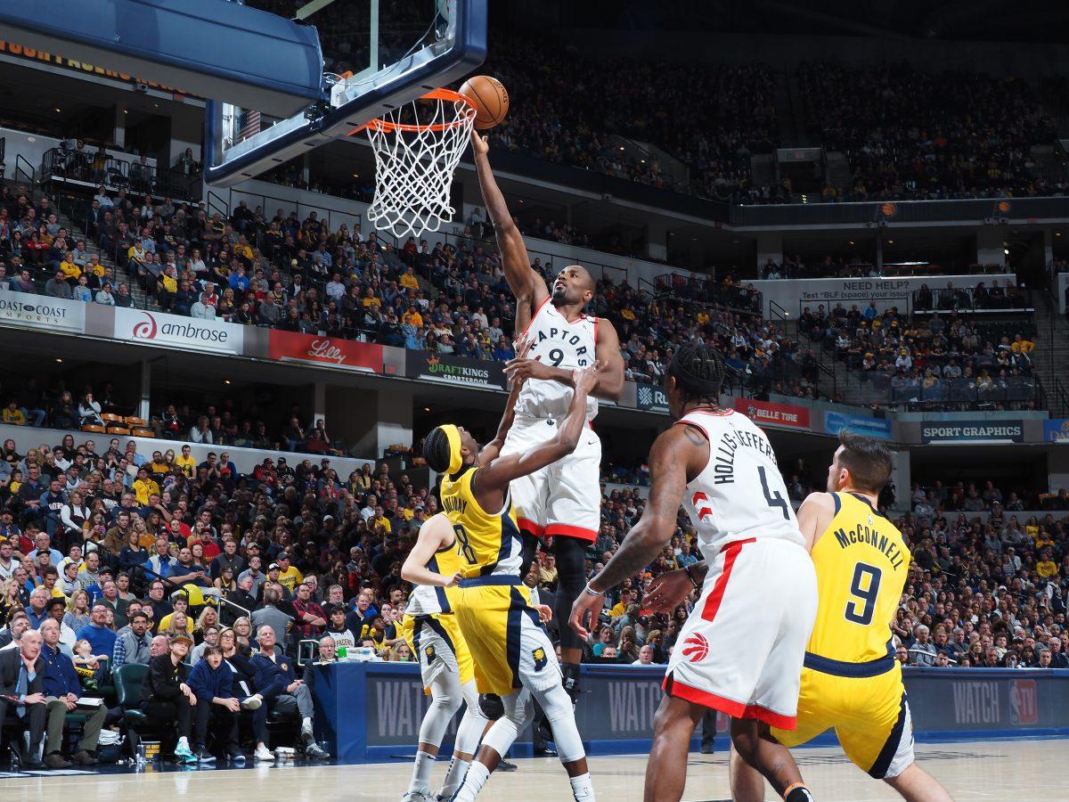Ibaka - Toronto Raptors v Indiana Pacers