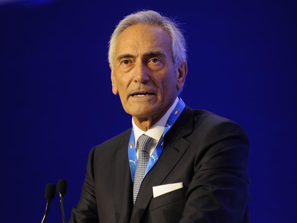 Gabriele Gravina, presidente de la Federación Italiana de Fútbol
