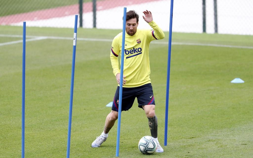 Messi comptición entrenamientos