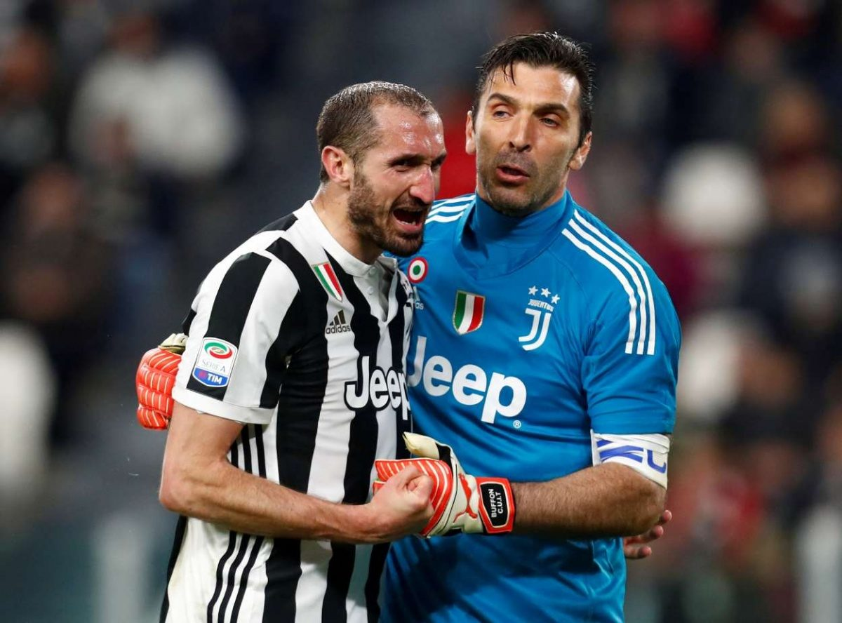 Buffon y Chiellini