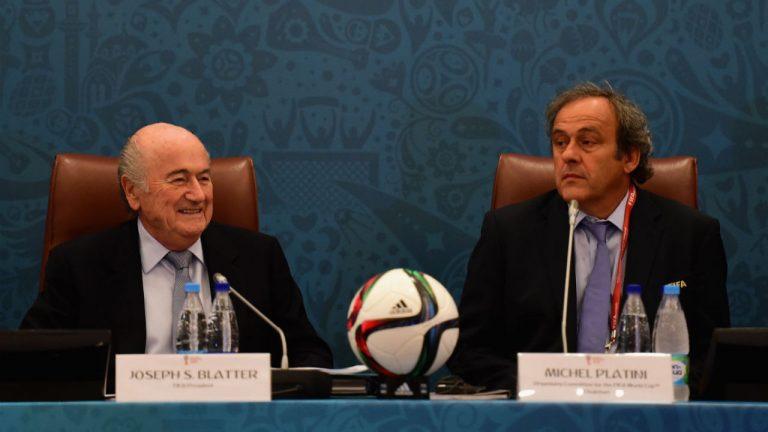 Blatter y Platini