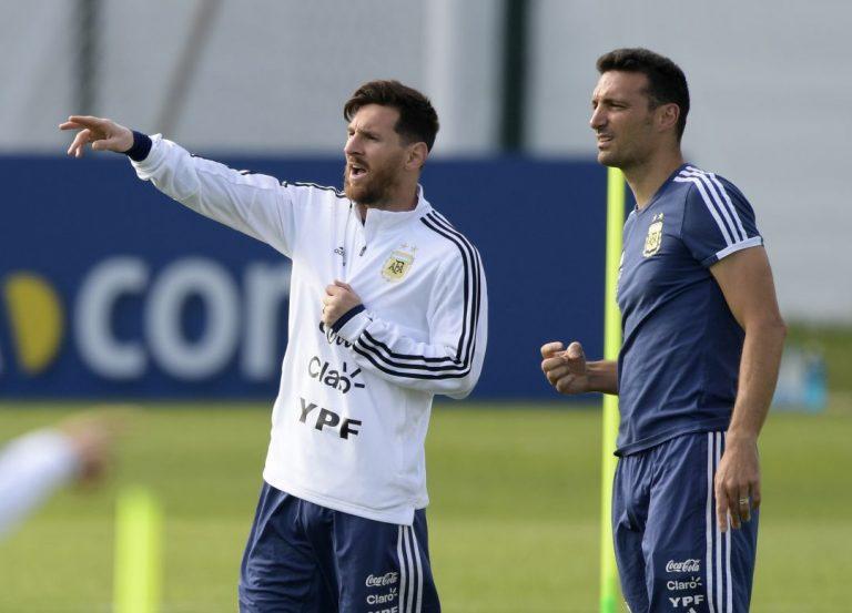 Messi - Scaloni