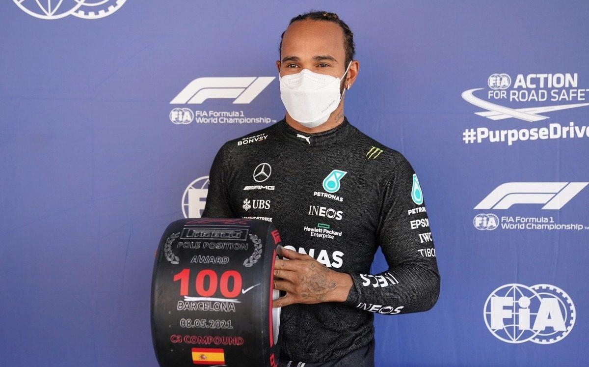 Lewis Hamilton Pole 100